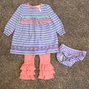 Matilda Jane dress with diaper cover and pants